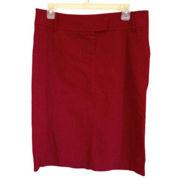 Mexx Red Stretch Pencil Skirt Size 10